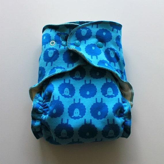 Organic OS fitted diaper cloth diaper hemp diaper