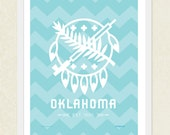 Pick Your Color, Oklahoma Poster - Osage shield - Chevron
