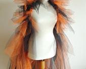 Halloween Costume, Jacket , Shrug , Accessories, Shrug bolero with Black and Orange Tules