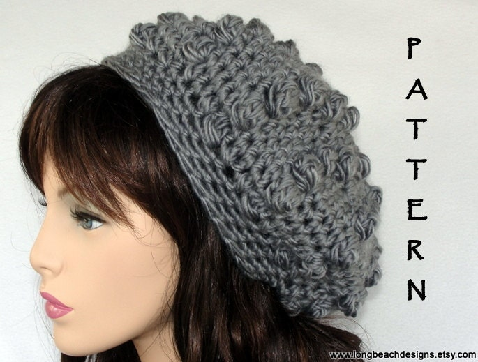 Crochet slouchy hat Pattern Heavy Metal Slouchy Bobble Hat
