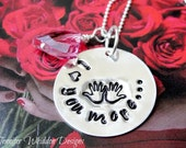 I Love You More Necklace   Hand Stamped Necklace   Sterling Silver Necklace