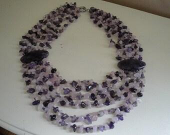 Amethyst Multi-strand Necklace