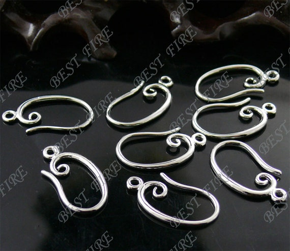 24 pcs of new style platinum tone brass earwire 10X20mm,fish Hook,earrings findings