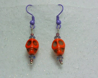 Halloween Earrings Petite Halloween Skull Earrings