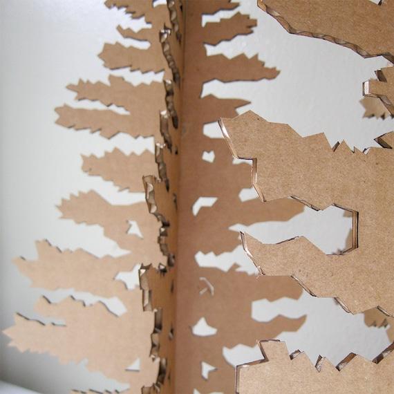 Arbre de no l en carton papier arbre de no l d coration de - Arbre de noel en carton ...