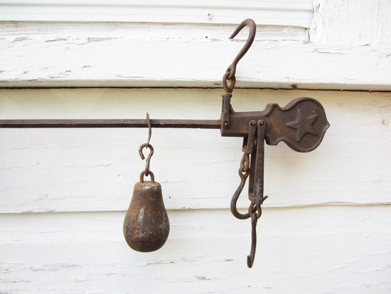Antique Scale - Rustic Hanging Balance Farm Scale