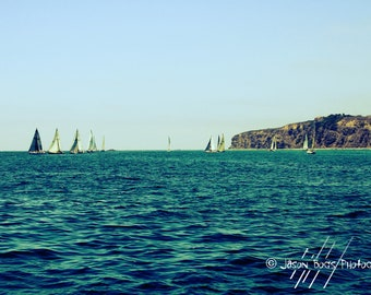 Sail Boats in the Pacific - 8x12 Photo from Dana Point California