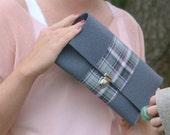 Clutch bag - Hand bag - 100% wool felt - No. 10