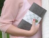 Mothers Day Clutch Purse - spring bag - wool felt
