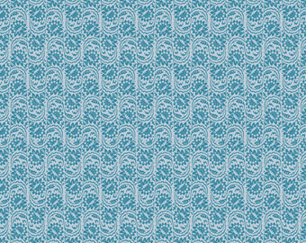 Stars and Stripes -  Blue Floral - C2793 - by My Mind's Eye for Riley Blake Design - 1/2 Yard