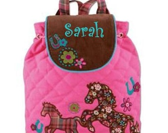 Personalized Girls Stephen Joseph Horse Backpack
