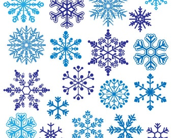 Snowflake Photoshop Brushes, Snowflake Silhouettes Photoshop Brushes - Commercial and Personal Use
