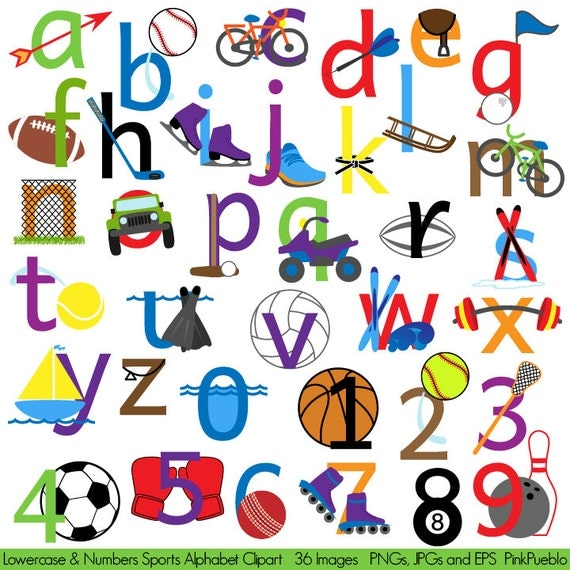 sports alphabet clipart clip art sports letters font With sports themed letter art