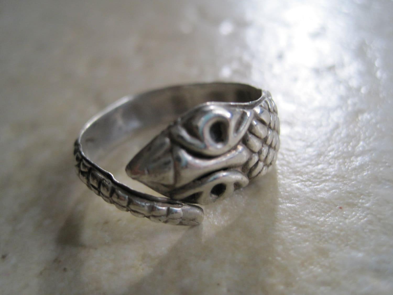 Snake Ring Gilt Hallmarks