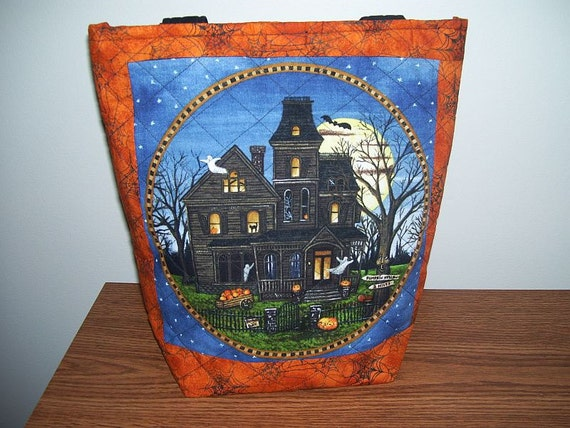 Halloween Tote, ON SALE was 29.00 now 24.00, Quilted, 2 sided, large