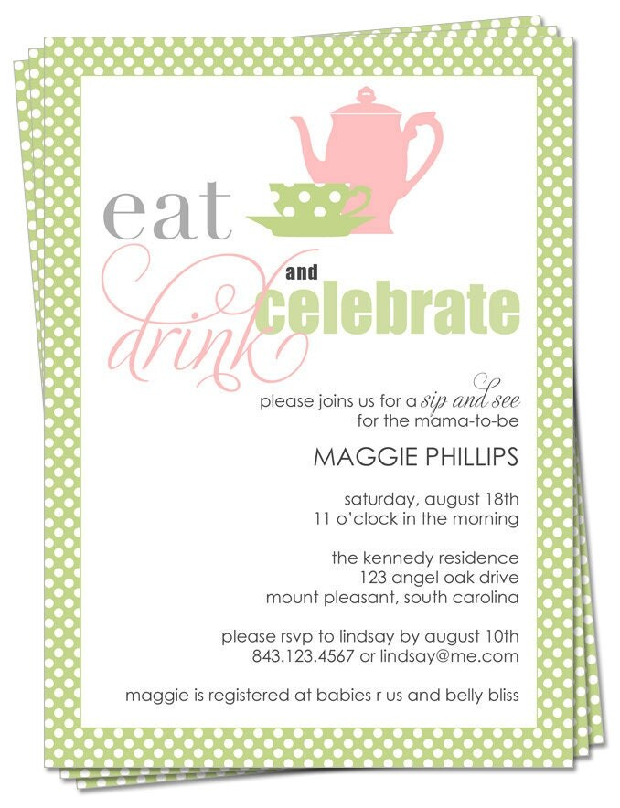 high tea baby shower invitation templates gallery invitation