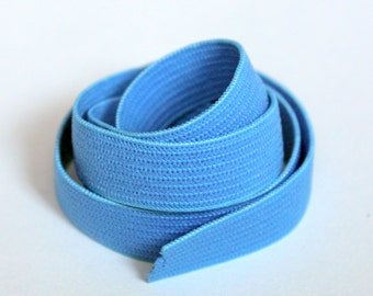 Blue 1/2 inch Woven Elastic, 10 Yards Flat Braided Elastic, Sewing Notions, elas011/10