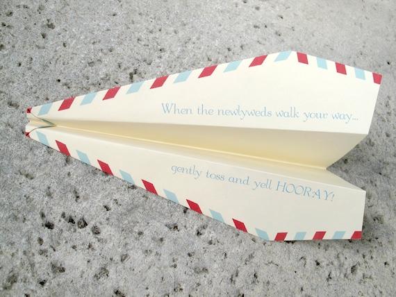 100 Personalized Paper Airplanes for a Unique Wedding Ceremony / Reception Exit Sendoff
