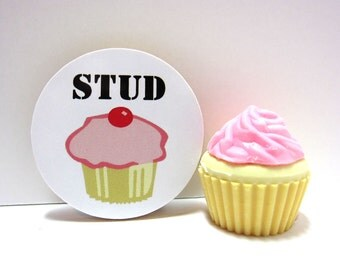 STUD Muffin - Funny Wood Magnet