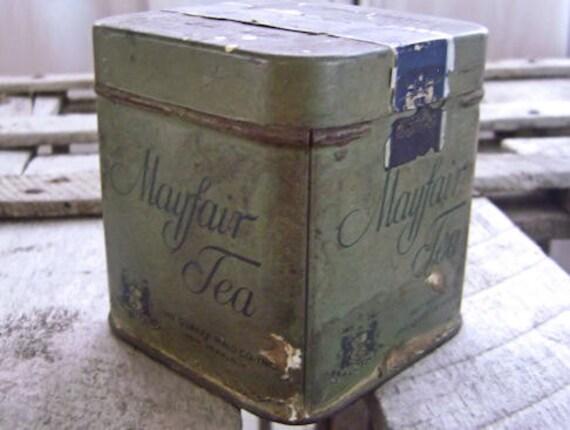 Vintage Tin Mayfair Gunpowder Tea