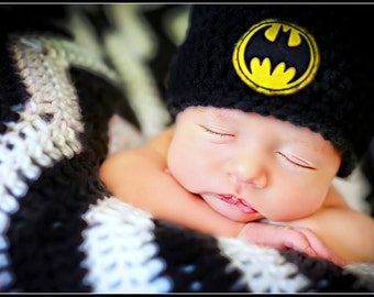 Newborn Photo Prop Baby Boy Batman Hat