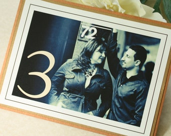 Engagement Photo Table Numbers, Wedding Table Numbers, DEPOSIT