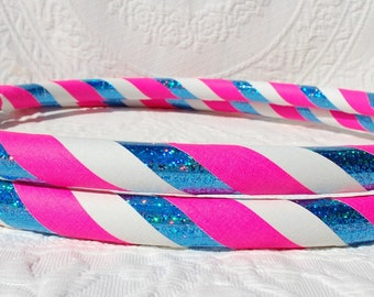 NEW: Cotton Candy Custom Hula Hoop - Collapsible or Standard - ANY Size Hoola Hoop