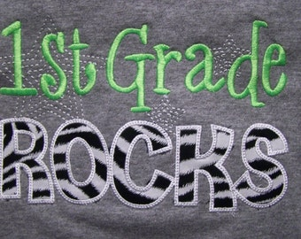 First Grade Rocks tshirt 1st Grade Rocks  shirt