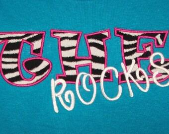School Letter Shirt Teacher Shirt Mascot Shirt School Initial Shirt Rocks Shirt