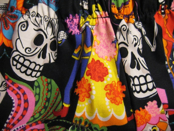 Day of the Dead Girls Pajamas Boxer Shorts (PJ's)