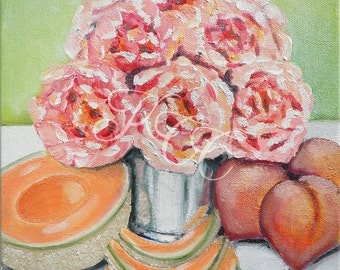 "Original Oil Painting - ""Just Peachy"""