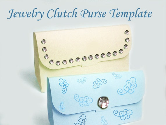 Template - Printable Clutch Purse Gift Bag