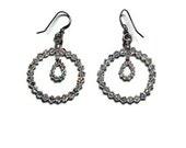Nicole crystal hoop earrings handmade etsy jewelry