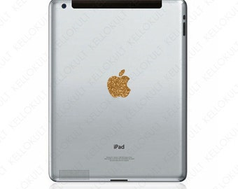 Apple iPad 2 & 3 Apple Logo Decal - Sparkling Gold