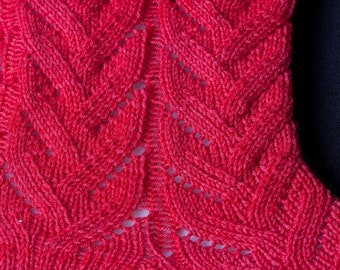Knit Sock Pattern:  Easy Lace Socks Knitting Pattern
