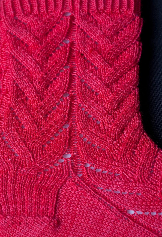 Easy Knitting Patterns Uk : Knit sock pattern easy lace socks knitting