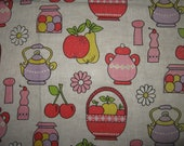 1979 called ... odd and mod vintage mid century kitchen curtains fruity daisy pink palette 2 left - bettiecouture