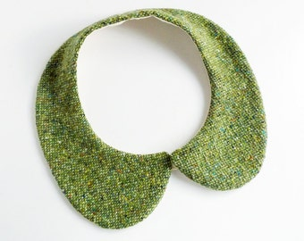 peterpan collar - moist green - thick wool - for winter - multiple sizes