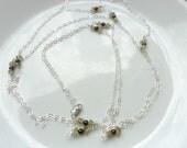 Custom order for Kate Long gemstone peridot, garnet sterling silver necklace.