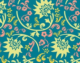 Tibet Blockprint Blue  (RHA-407) - RHAPSODIA by Pat Bravo for Art Gallery Fabrics - By the Yard