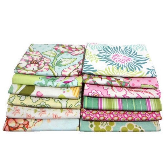 Fat Quarter Bundle FRESHCUT Heather Bailey - Free Spirit Fabric - 12 Pcs