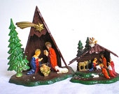 Christmas, Home Decor, Vintage,  Nativity , Retro,  Christmas Decoration, Plastic, Kitch, 1960's, 1970's, Hong Kong