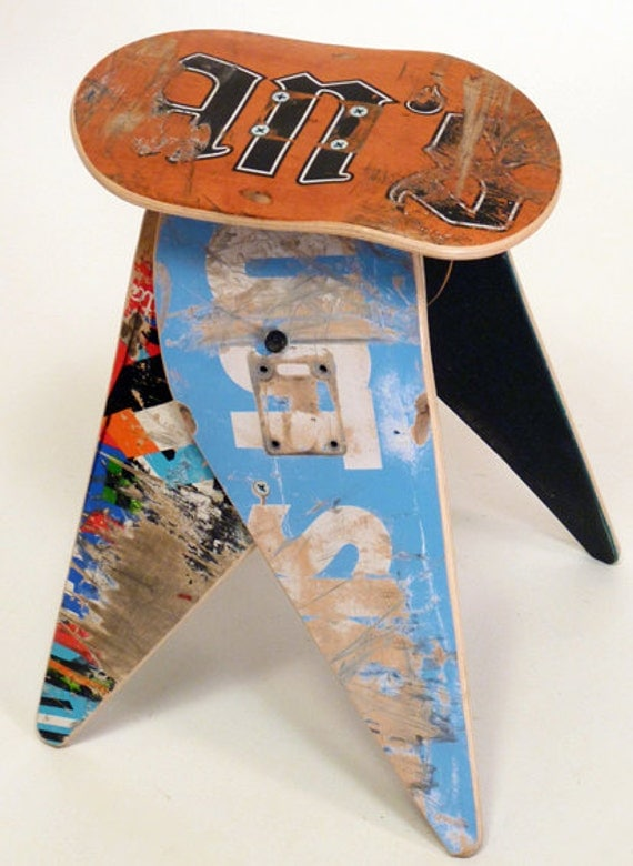 No.304 - Recycled skateboard stool