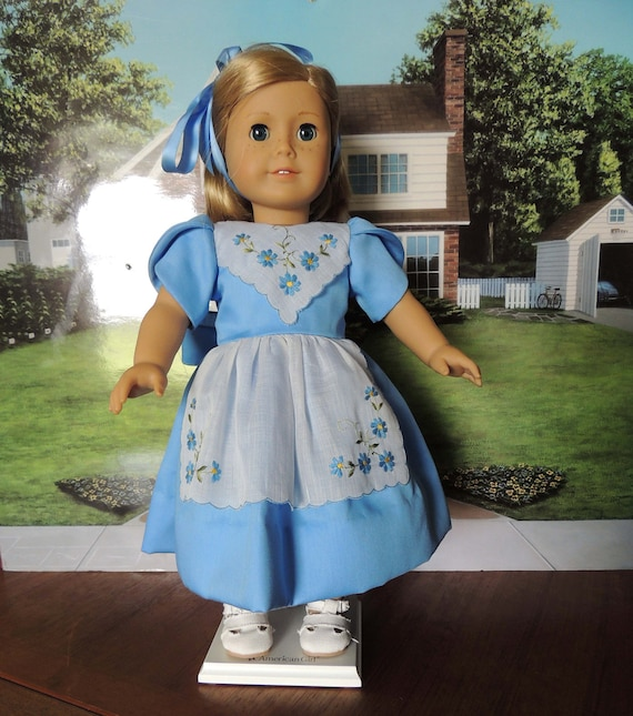 Vintage Hankie Style Apron Dress for American Girl Doll