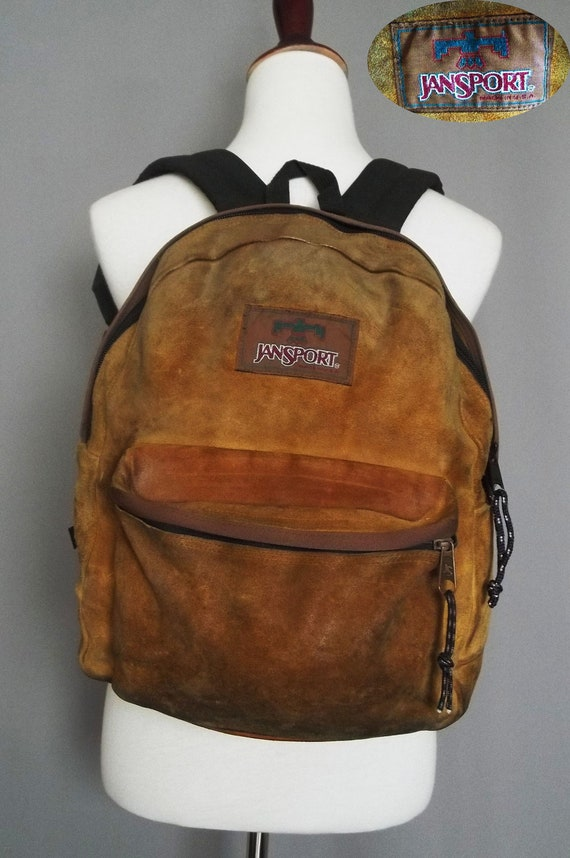 Vintage Rare JANSPORT All Leather BACKPACK. Made in USA.