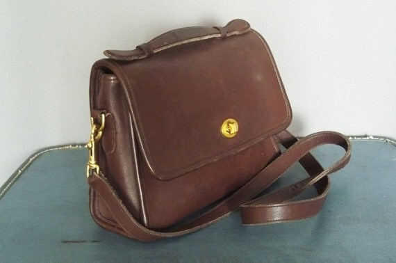 Vintage Brown Soft Leather COACH Saddle Bag.  ((((((RESERVED for Vivi))))))))))