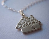 Tiny Cottage Sterling Silver Necklace