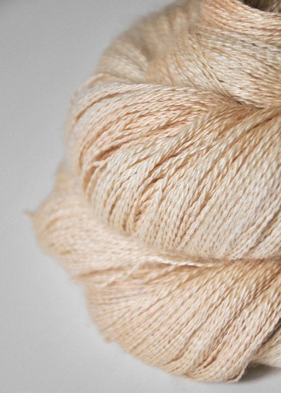 Skinned peach OOAK - Baby Alpaca / Silk yarn lace weight