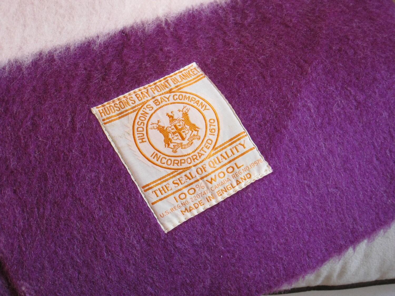 Hudson Bay Blanket Purple Wool 1953 Queen Elizabeth Coronation
