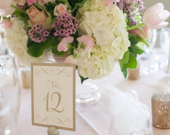 DIY Do It Yourself Do-It-Yourself Wedding Reception Table Numbers 1-44 / Number / Cards / Card / Signs / gold leaf / pdf instant download